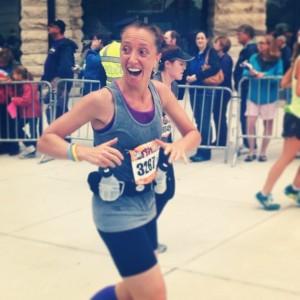 Running the Baltimore Marathon in Oct. 2013, LIVESTRONG bracelet on